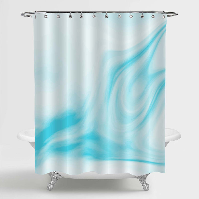 Smooth Granite Surface Shower Curtain - Blue
