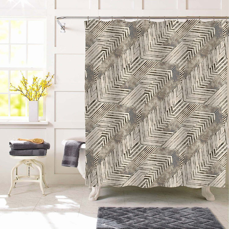 Antique Chevron Shower Curtain - Grey
