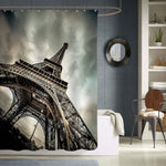 Majestic Paris Eiffel Tower Shower Curtain - Grey