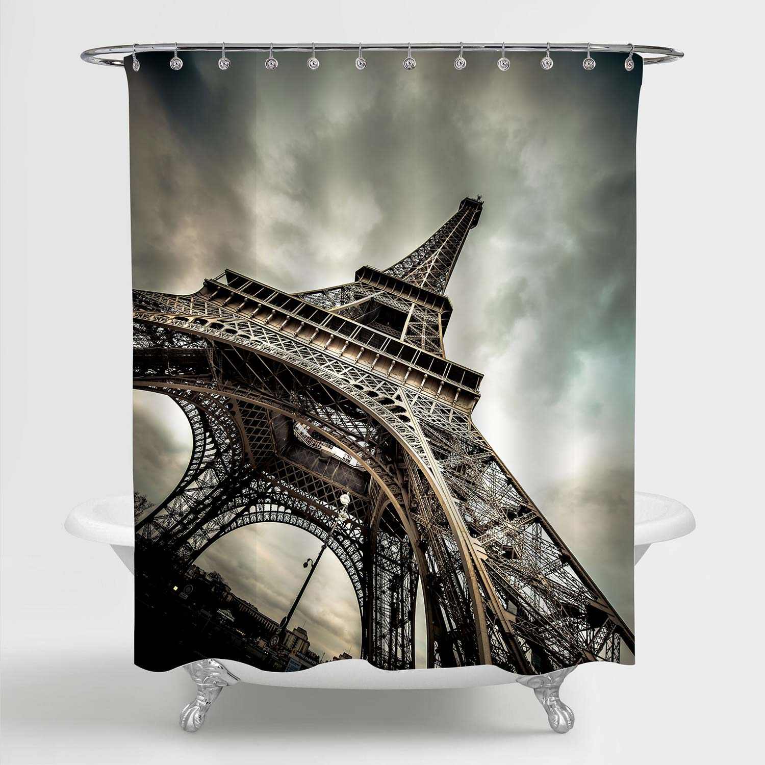 Majestic Eiffel Tower Paris Landmark Shower Curtain