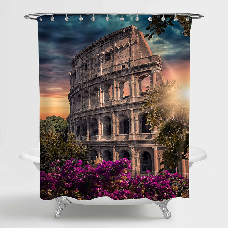 Ancient Rome Colosseum Shower Curtain - Multicolor