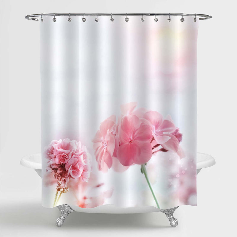 Flower Blossoming in Spring Time Shower Curtain - Pink