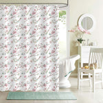 Hand Drawn Apple Tree Branches and Flowers Shower Curtain