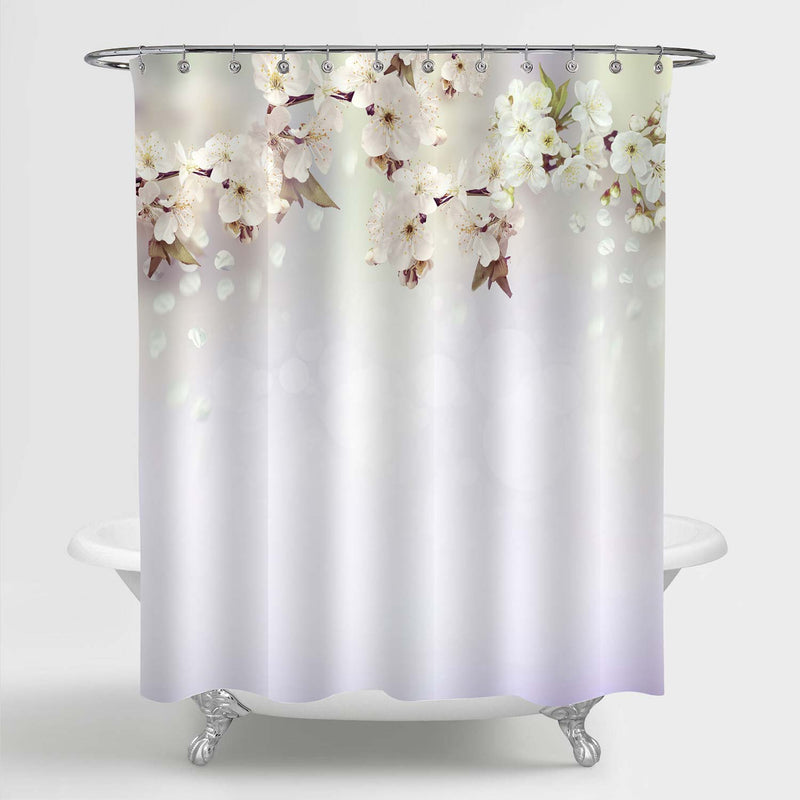 Spring Cherry Blossoms Shower Curtain - Light Lavender