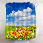 Tulip Flowers Field Shower Curtain - Multicolor