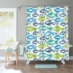 Simple Fishes Shower Curtain - Colorful