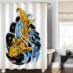 Retro Koi Fish Shower Curtain
