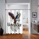 American Indian Chief Headdress Eagle Shower Curtain - Brown