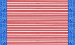 Dress Up America Fourth of July Stars and Stripes Border print