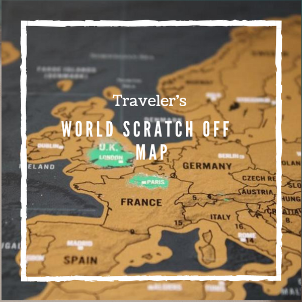 World Map Scratch Off Track Your Adventures Luxury Edition