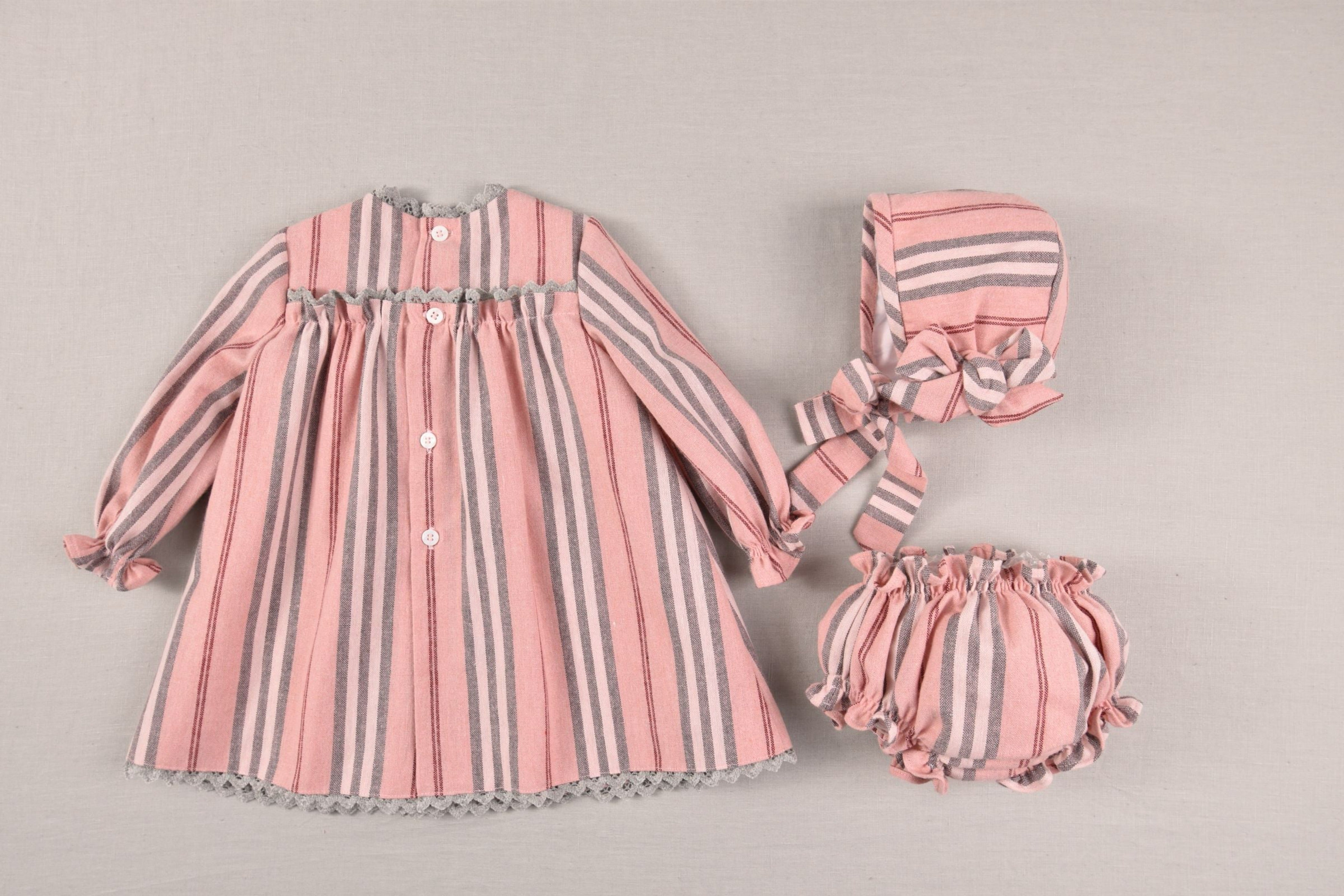 Three-piece set for baby girls