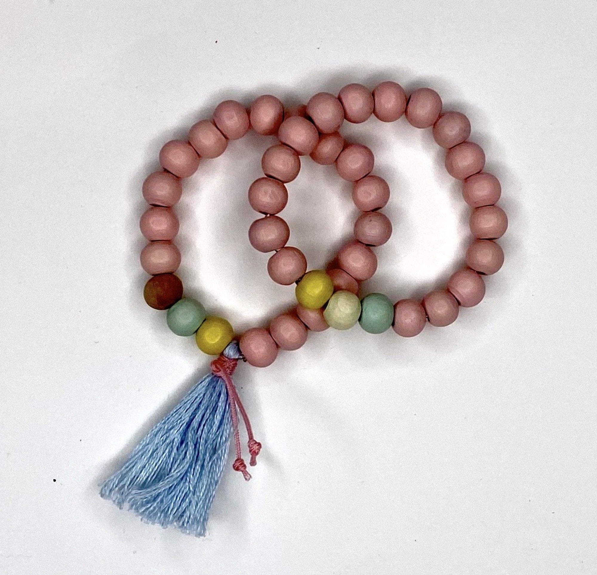 Pink Light Necklace and Bracelets