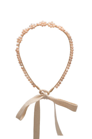 Peach Seven Flowers Headband
