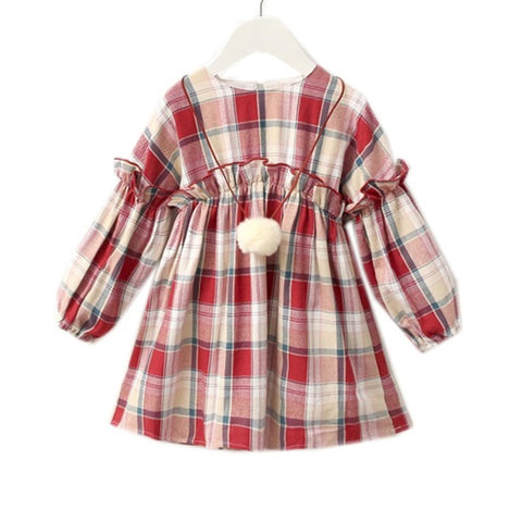 Woven Junior Girl Dress Checkered
