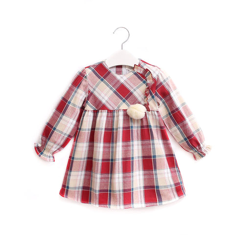Woven Infant Girl Dress Checkered