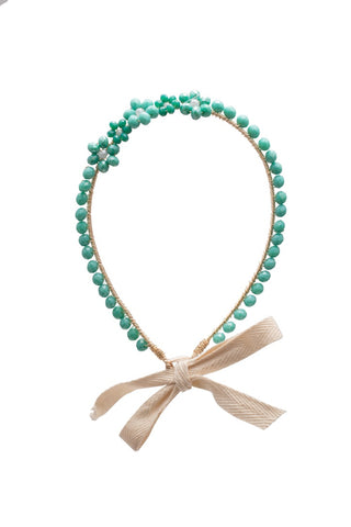 Teal Five Flowers Headband