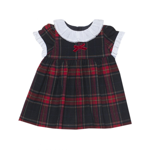 Woven Tartan Baby Girl Dress