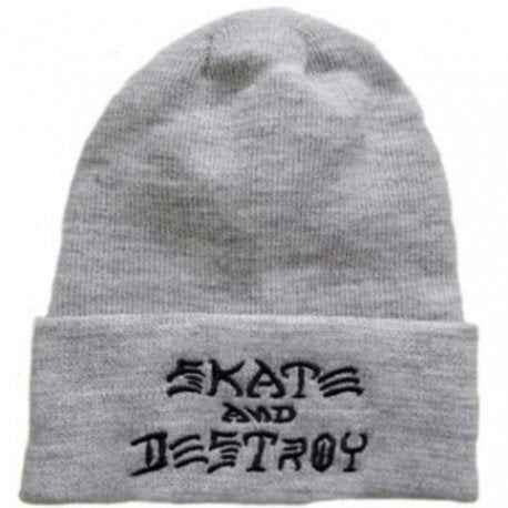 Beanie Trasher Skate and Destroy Gray