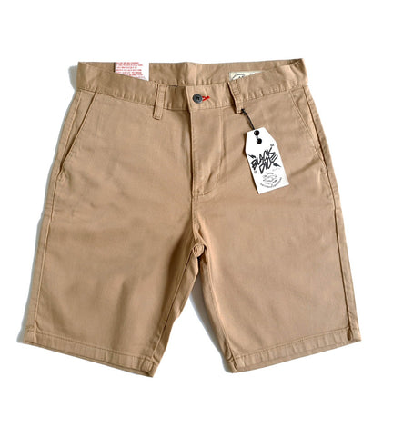 Short Black Dice Chino Beige
