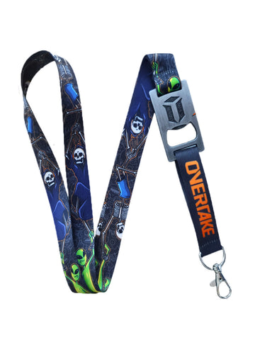 Lanyard Overtake Black Orange