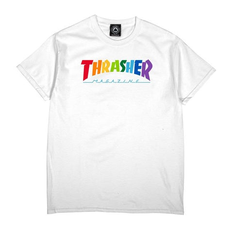 Polo Trasher Rainbow Mag White