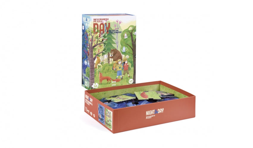 Puzzle Reversible Night and Day in the forest