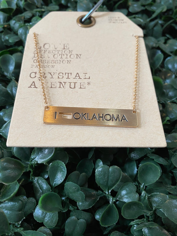 Oklahoma Bar Necklace