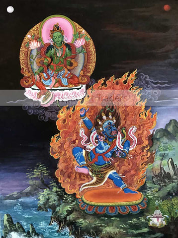Green Tara with Vajrapani