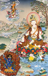 White Tara, 700g,75cmx100cm , hand painted in cotton cloth with vegetable pigments