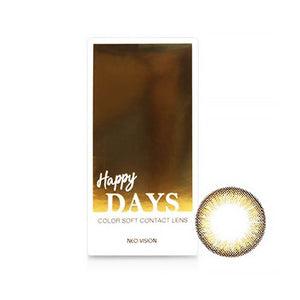 Neo Vision - Happy Days Brown (Monthly Disposable)