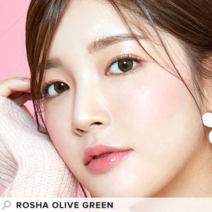 I-Girl - Rosha Olive Green (Daily Disposable)