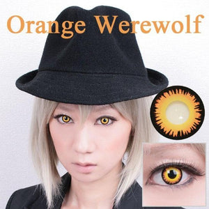 Innovision Cosplay - Orange Werewolf-Cosplay Contacts-Lensupermart