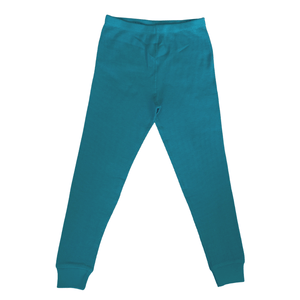 Turquoise Waffle Leggings (Pre-Order)