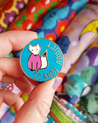 Scandi Addict Pin Badge
