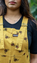 Load image into Gallery viewer, Bees Knees Gold Stretch Twill Dungarees - The Norse Nook Ltd