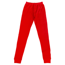 Load image into Gallery viewer, Cherry Red Waffle Leggings (Pre-Order)