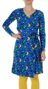 Adult Blue Mother Earth Wrap Dress