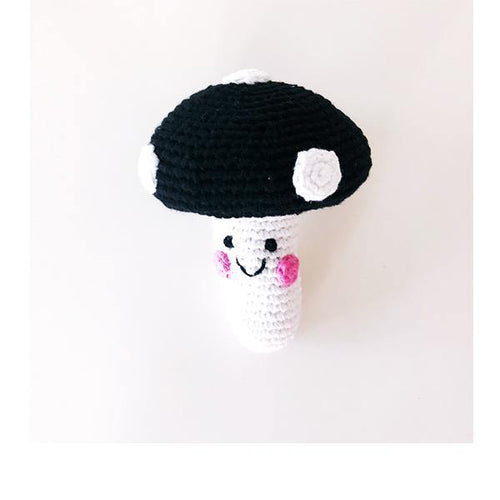 Friendly Black Toadstool Rattle