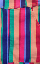 Load image into Gallery viewer, Rainbow Stripe Stretch Twill Dungarees
