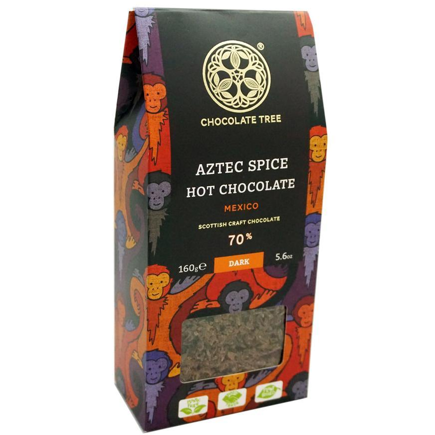 70% Dark Aztec Spice Hot Chcocolate Pouch 160g (Vegan)