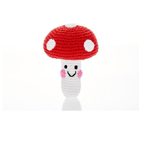 Friendly Red Toadstool Rattle