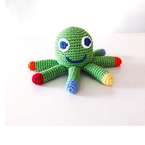 Apple Green Octopus Rattle