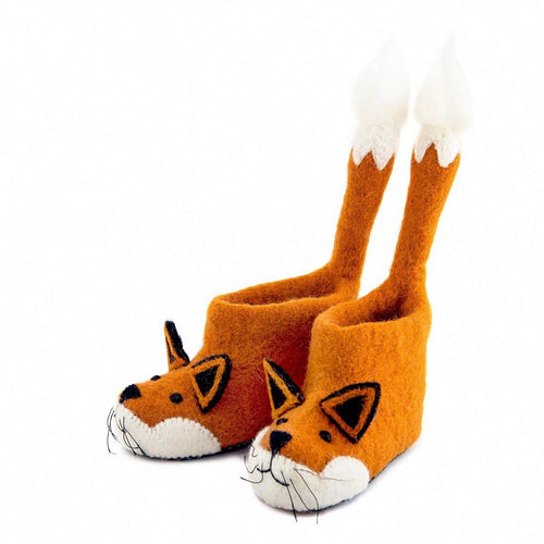 Kid's Finlay Fox Slippers - The Norse Nook Ltd