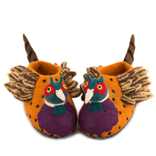 Adult Freddie the Pheasant Slippers - The Norse Nook Ltd