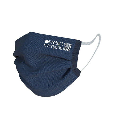 100% Organic Cotton 3 Layer Face Mask - Navy