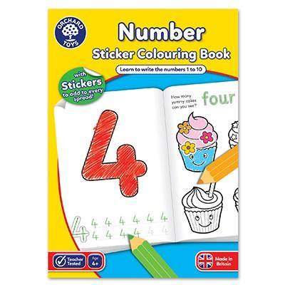 Numbers Colouring Book - The Norse Nook Ltd