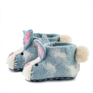Kid's Rory Rabbit Slippers - The Norse Nook Ltd