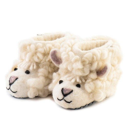Kid's Shirley Sheep Slippers - The Norse Nook Ltd