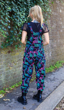 Load image into Gallery viewer, Rainbow Zebra Stretch Twill Dungarees - The Norse Nook Ltd