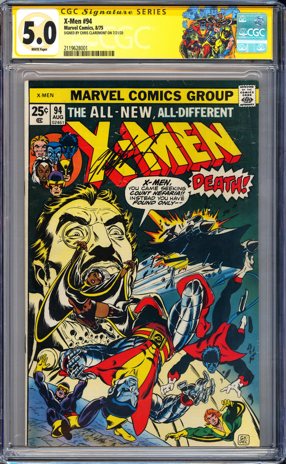 X-Men #94 CGC White Pages